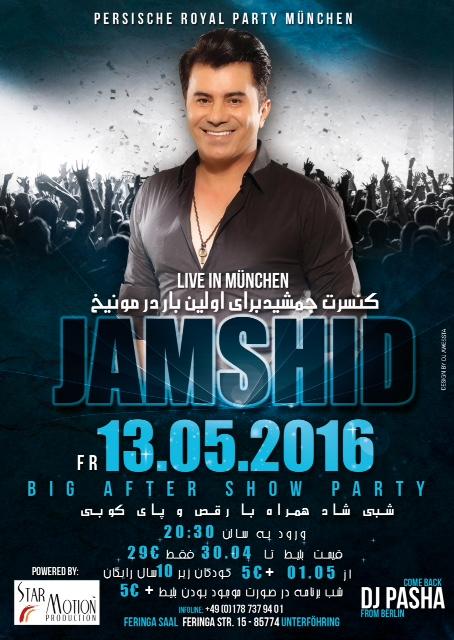 Konzert Jamshid am 13.05.2016 in München